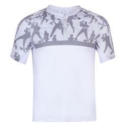 Babolat polo compete blanco/gris