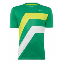 Head camiseta Dive verde