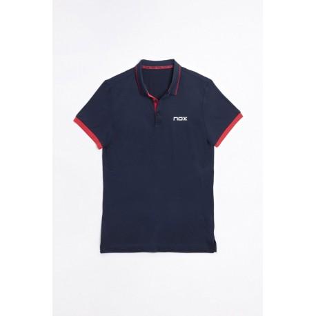 Nox polo Pro azul/rojo