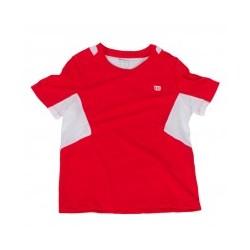Wilson camiseta niño roja