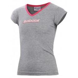 Babolat camiseta niña training gris